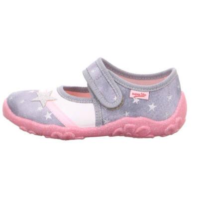 Szürke, rózsaszín, csillagos, Superfit vászoncipő