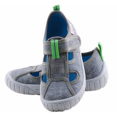 Farmerszürke-zöld, Superfit, nyitott vászoncipő