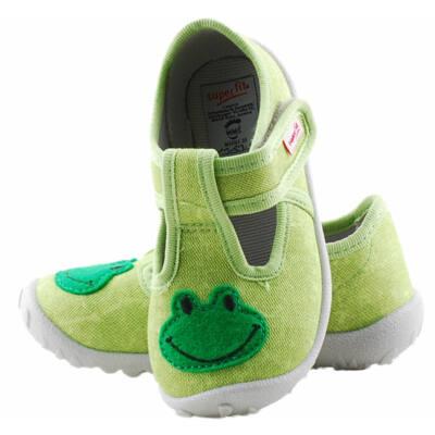 Zöld, békás, Superfit vászoncipő