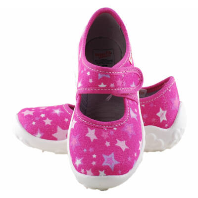 Pink, csillagos, Superfit vászoncipő