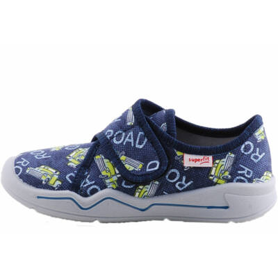 Kék, neonzöld, autós Superfit vászoncipő