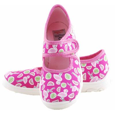 Pink, flamingós, Superfit vászoncipő