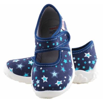 Sötétkék, csillagos, Superfit vászoncipő