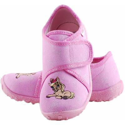 Rózsaszín-ezüst, kiscsikós, Superfit vászoncipő
