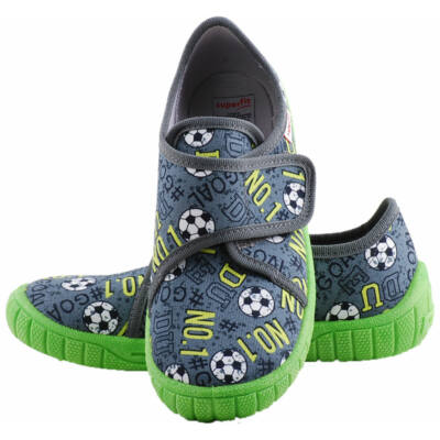 Szürke, neon talpú, focis, Superfit vászoncipő