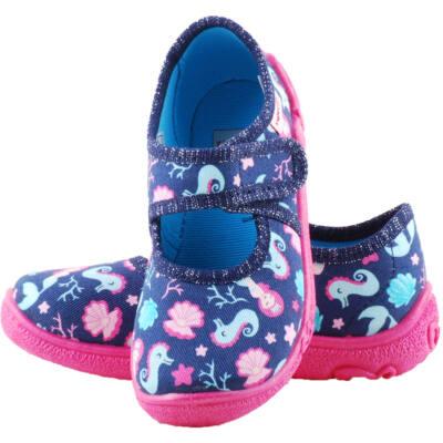 Kék, pink, hableányos, tengericsikós, Superfit vászoncipő