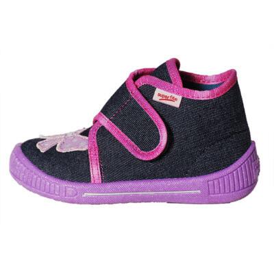 Superfit sötétkék-lila masnis vászoncipő