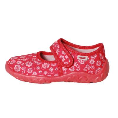 Superfit lazac színű, virágos vászoncipő