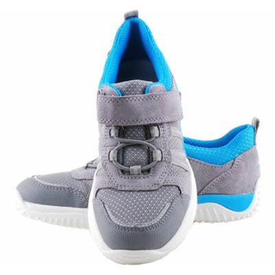 Szürke-kék, gumifűzős-tépőzáras, Superfit edzőcipő