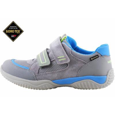 Szürke-kék-neon, Gote-Tex, vízálló, Superfit edzőcipő