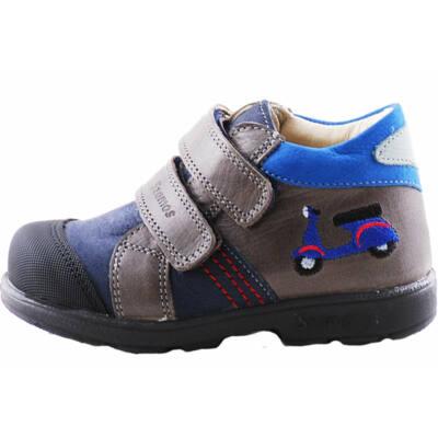 Szürke-kék, motoros, Szamos supinált cipő