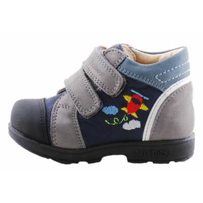 Szürke, kék, piros repülős, Szamos supinált cipő