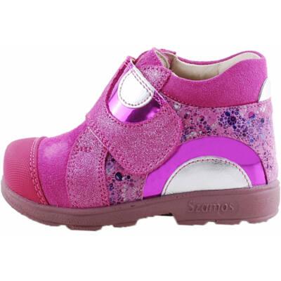Pink, ezüst mintás, kislány, Szamos supinált cipő