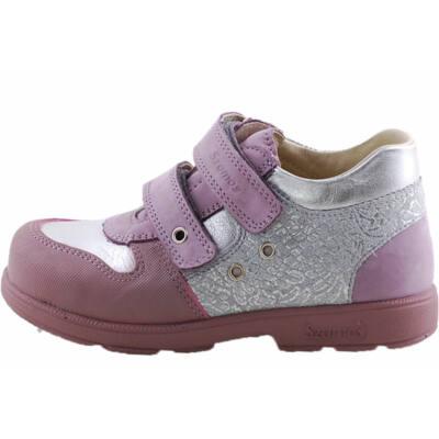 Lila, ezüst díszítésű, Szamos supinált cipő