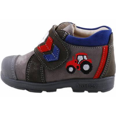 Szürke, piros traktoros, Szamos supinált cipő