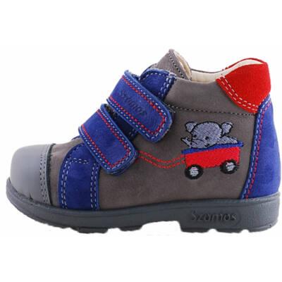 Kék, szürke, elefántos, Szamos supinált cipő