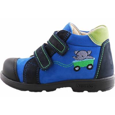 Kék-zöld, elefántos, Szamos supinált cipő