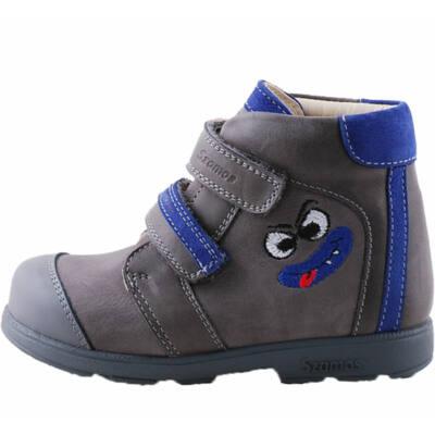 Szürke-kék, vicces figurás, Szamos supinált cipő
