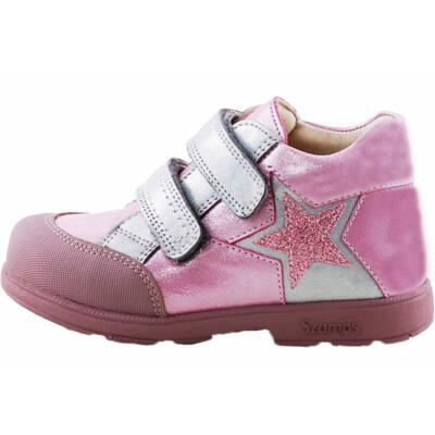 Csillogós rózsaszín, csillagos, Szamos supinát cipő