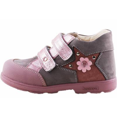 Szürke, csillogó rózsaszín, Szamos supinált cipő