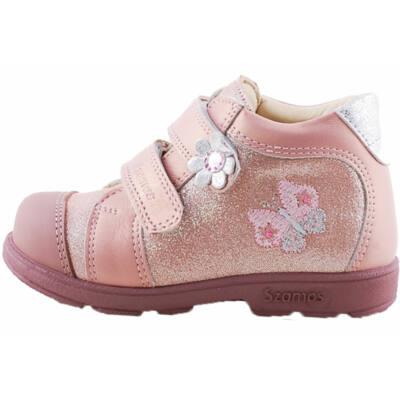 Csillogó rózsaszín, pillangós, Szamos supinált cipő
