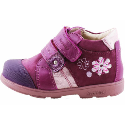 Lila, virágos, Szamos supinált cipő