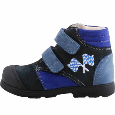Kék, zászlós, magasszárú, Szamos supinált cipő