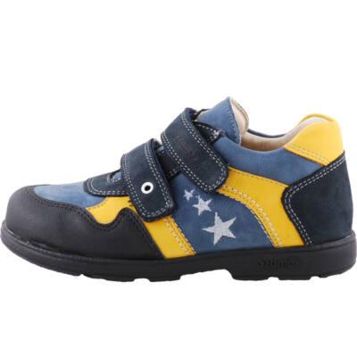 Kék-sárga, csillagos, Szamos supinált gyerekcipő