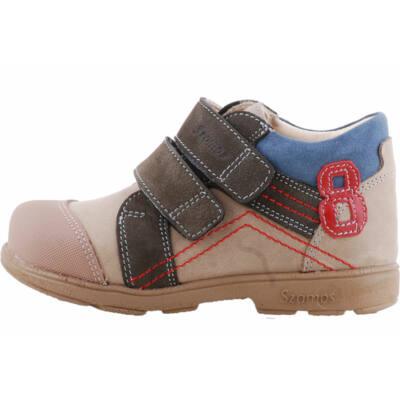 Mogyoró-antracit kék, számos, szamos supinált cipő