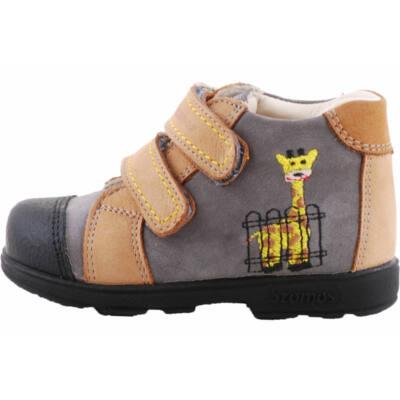 Barna-antracit, zsiráfos, Szamos supinált cipő