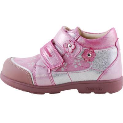 Rózsaszín-ezüst, kisvirágos, Szamos supinált cipő