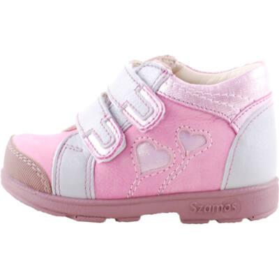 Szürke-rózsaszín, szívecskés, Szamos supinált cipő