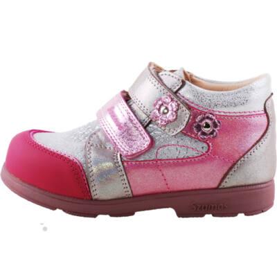Rózsaszín, ezüst kisvirágos, Szamos supinált cipő