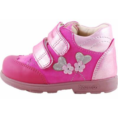 Pink, ezüst, szívecskés, Szamos supinált cipő