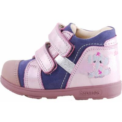 Kék, csillogós rózsaszín, elefántos, Szamos supinált cipő