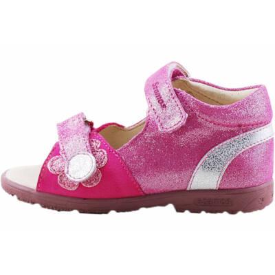 Pink, csillogó virágos, Szamos supinált szandál