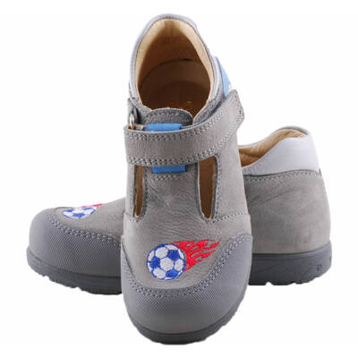 Szürke-kék focis, Szamos supinált szandálcipő