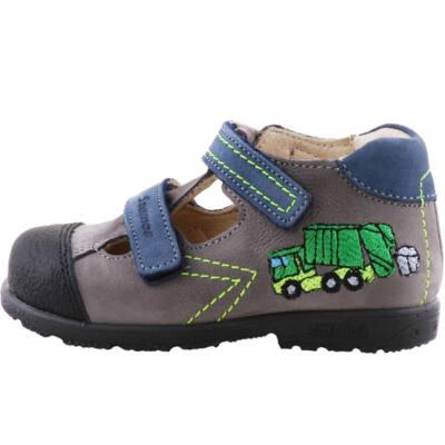 Szürke-kék, zöld kukásautós, Szamos supinált szandálcipő