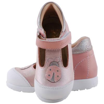 Csillogós rózsaszín, katicás, Szamos supinált szandálcipő