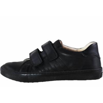 Szamos fekete, 2 tépőzáras, átmeneti bőr cipő