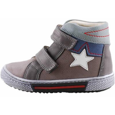 Szürke-kék, fehér csillagos Szamos cipő