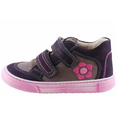 Szürke-lila, pink virágos Szamos lányka cipő