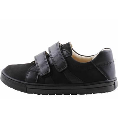 Fekete, bőr, tépőzáras, Szamos cipő