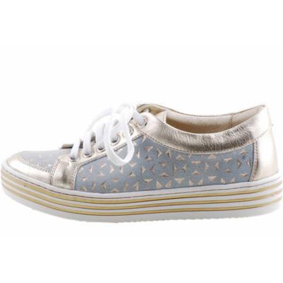 Arany, fűzős, lányka, Szamos cipő