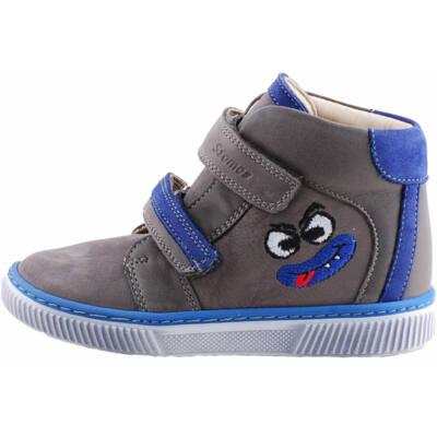 Szürke-kék, vicces figurás, Szamos cipő
