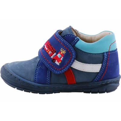 Kék, tűzoltó autós, puha talpú, Szamos cipő
