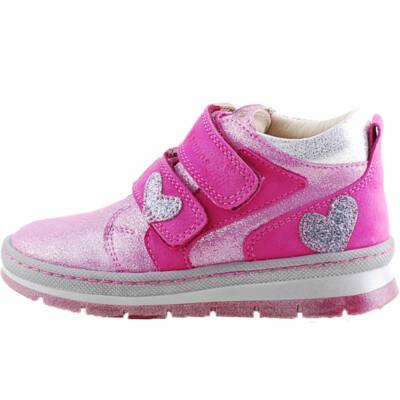 Pink, csillogó szívecskés, hajlékony talpú, Szamos cipő
