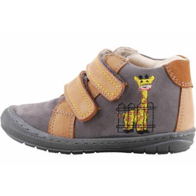 Szürke-antracit zsiráfos, hajlékony talpú Szamos cipő
