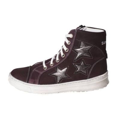 Szamos bordó, csillagos , magasszárú  cipő