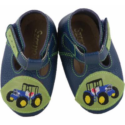 Sötétkék, zöld, traktoros, puhatalpú Szamos cipő